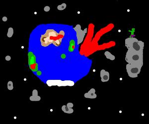Earth from space, apocalypse a fait accompli