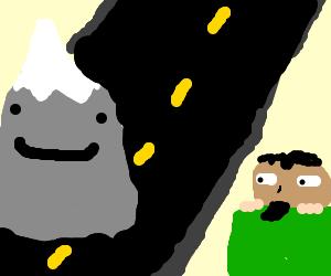 goatee mercenary stalks mountains