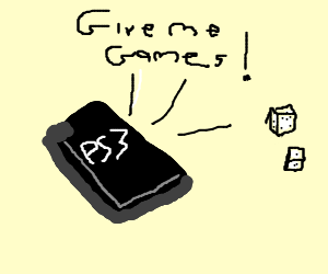 PS3 yells at a dice for games