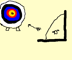 target practice from a right angle