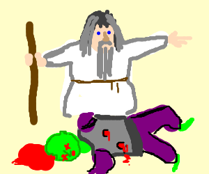 Hatless Gandalf discovers murder victim