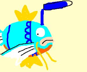magikarp gets a blue dye