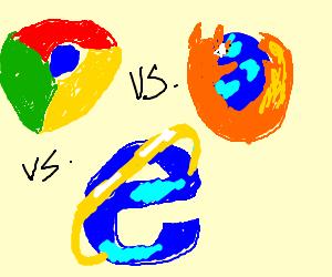 war between Google Chrome,Firefox and IE