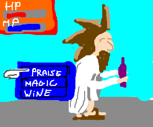Guy playing Final Fantasy:Origins Jesus Journey