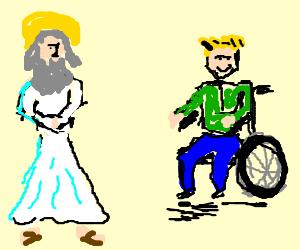 Wheelchair-bound optimist talks to God