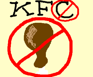 KFC bans chicken from their meals