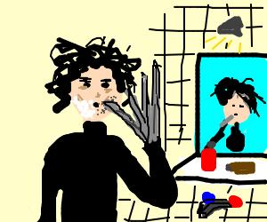 Edward Scissorhands Shaving