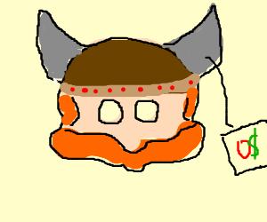 Viking mask. Price: zero dollars.