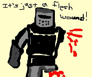 black knight without a leg and an arm