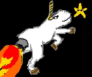 Rocket Powered Unicorn Chases Star
