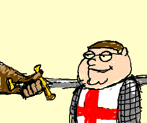 Young Peter Griffin joins the Knights Templar