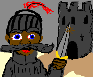 Sir mustache of mustachiokeep sieges the castle.