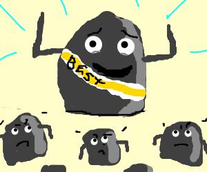 Biggest rock is best rock