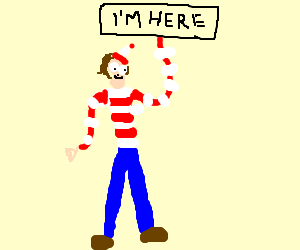 Wally wants to be found!