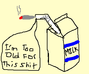 Milk cartonconsidering quitting weed for good