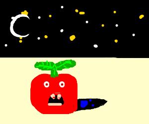 Vampire tomatoes eating small shadows