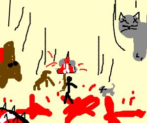 Raining Cats & Dogs (gruesome)