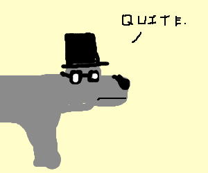 Fancy dog with topper and vintage glasses