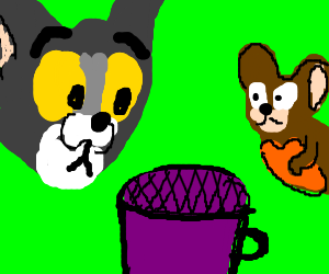 Tom and Jerry. One Cup.
