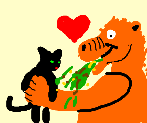 Alf loves cats and vomits