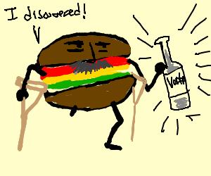 old hamburger amputee discovers vodka bottle