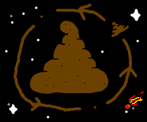 The planet poo, has a giant poo in its orbit