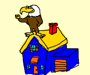 An eagle protects your home