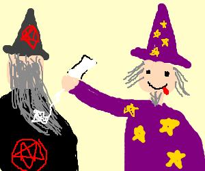 some wizard glue his classmate hair