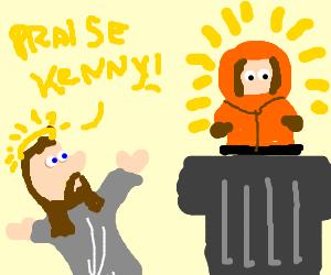 Jesus worships Kenny