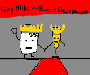 The milk and tall champaign glass (full) rule