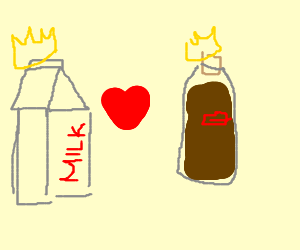 King Milk and Queen Brown Liquid are inlove