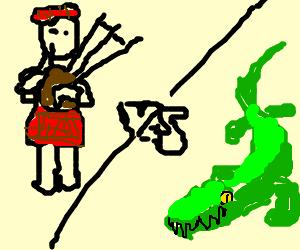 Scotsman Battles A Crocodile