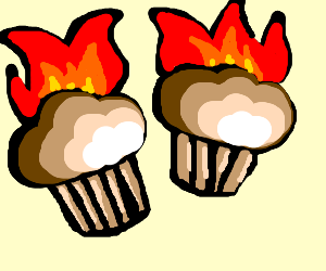 Burning muffins = not winning at life