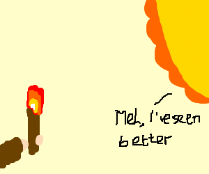 The Sun is not impressed by torch