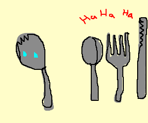 A spork is cast out