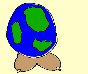 The earth has tits.