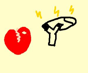 heartbreak at electrocuted slingshot