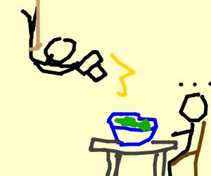 spy takes photograph of salad