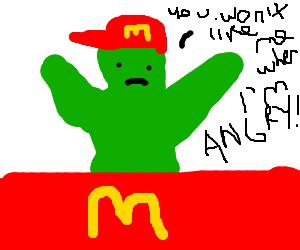 hulk works at mcdonald's