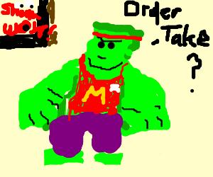 McDonalds Hulk amazes Shamwow constantly