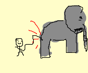 Elephant gives birth to midget