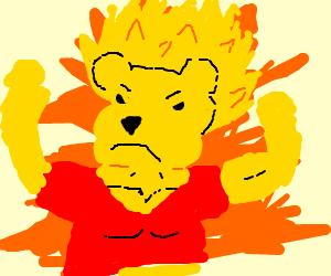 Winnie the super saiyan pooh