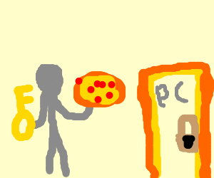silver man has [u] pc key and pizza
