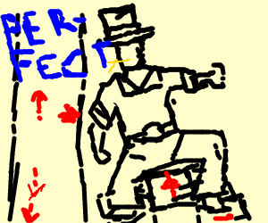 cowboy in a dancing game and doing great