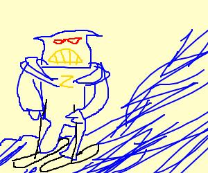 Emperor Zurg goes water-skiing