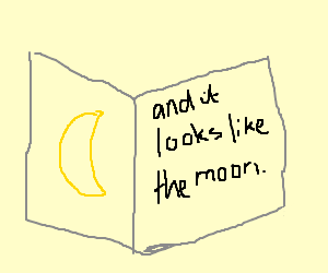 Textbook claims it looks like the moon.