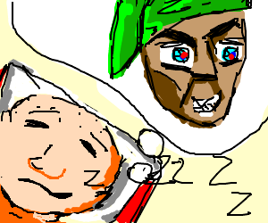 Bald man dreams of mean goblin in Link hat