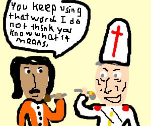 Inigo Montoya has dinner with the Pope
