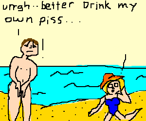 Bear didn't realize it wasn't nude beach