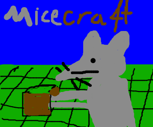 Videogame world - made of micecraft blocks